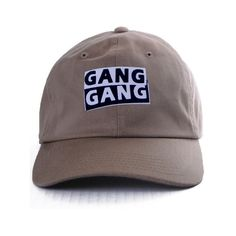 Nerdy Fresh gang gang dad hat beige ($28) ❤ liked on Polyvore featuring men's fashion, men's accessories, men's hats, camel, vintage mens hats, mens fitted hats, vintage mens accessories and mens caps and hats