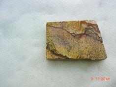 Square Tan Picture Jasper Cabbing Slab 1 x 11/4 by mnblarneystone, $4.00