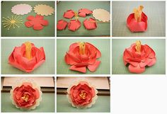 Bits of Paper: Scallop Circle Flower Card!