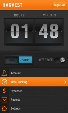 Harvest Timekeeping App  Concept Interface for the Android platform