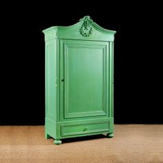 Painted Antique Pine Armoire, Northern Europe, c. early 1800's Antique Pine Furniture, Painting Antique Furniture, Antique Paint, Wooden Furniture, Furniture Design, Furniture Storage, Modern Wardrobe, Asian, Denmark