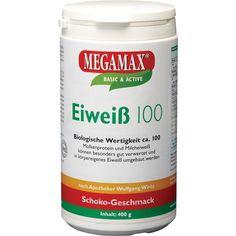 EIWEISS 100 Schoko Megamax Pulver:   Packungsinhalt: 400 g Pulver PZN: 07378204 Hersteller: Megamax B.V. Preis: 13,05 EUR inkl. 7 % MwSt.…