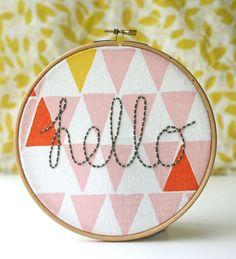 Hello in a hoop | Kirsty Neale