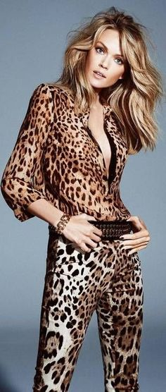 animal glory...leopard >> Lindsay Ellingson for Elle Brazil - April 2014