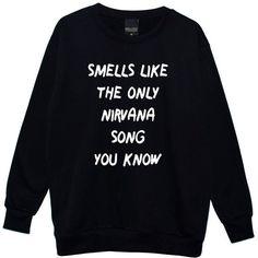 Smells Like Boyfriend Oversized Sweater Jumper Womens Ladies Fun Tumblr Hipster Fashion Grunge Punk
