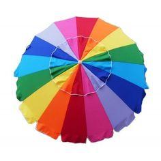 """Beach Umbrella 8' Feet Wide x 91"""" Tall Tilt Umbrellas Sun Shade Market Business"""
