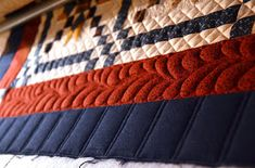 Hello Everyone,      Just a teaser today.....Lesley The Cuddle Quilter's Country Charmer quilt is finished and off my HandiQuilter.     ...