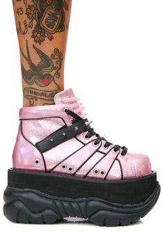 898ad8f6da3 Demonia Candy Machina UV Reactive Platform Sneakers cuz ya got unexpected  powers! These dope af