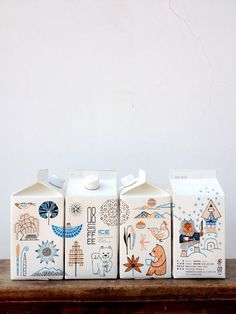 Forest Animal Packaging Illustration Design cute illustrations, love the carton idea Food Packaging Design, Bottle Packaging, Pretty Packaging, Packaging Design Inspiration, Brand Packaging, Branding Design, Coffee Packaging, Milk Packaging, Stationery Design