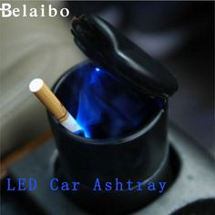 Ashtray portable decoration 2016new Auto Car Truck LED Cigarette Smoke Ashtray Ash Cylinder Cup Holder