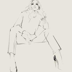 By Judith van den Hoek, fashion illustrator from the Netherlands.