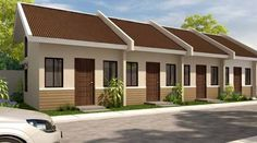 Ideas For Simple Low Cost Apartment Design In Philippines images Row House Design, Duplex House Design, Duplex House Plans, Modern House Plans, Modern House Design, Building Design, Building A House, Philippines House Design, Bungalow Haus Design