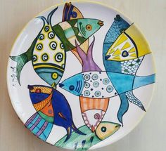 marina parvanova's media statistics and analytics Painted Plates, Hand Painted Ceramics, Plates On Wall, China Painting, Ceramic Painting, Ceramic Clay, Ceramic Plates, Pottery Plates, Ceramic Pottery