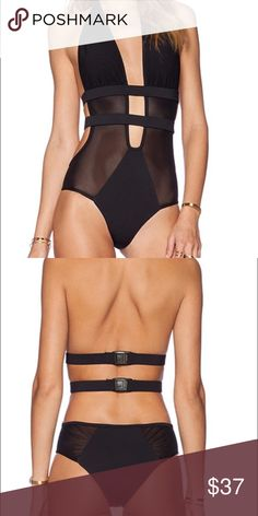 NWT padded bandaged monokini one piece swimsuit •Material - nylon,spandex   •color - black •true on size •brand new with tag •padded   Feel free to ask any questions :-)  All photos are copy righted under OiGee   -OiGee Swim One Pieces