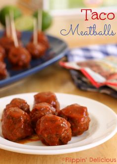 Taco Meatballs and a gluten-free game night menu made easy with McCormick Gluten-Free Recipe Mixes.