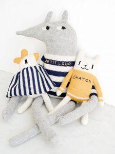 Le doudou Mini Poule en baby alpaga MAIN SAUVAGE - Photo