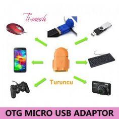 Ti-mesh Micro USB Robot OTG Adaptör - Turuncu