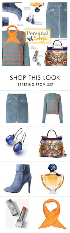 """Personal Style"" by sara-cdth ❤ liked on Polyvore featuring mbyM, Marco de Vincenzo, Dolce&Gabbana, Hot Kiss, Guerlain, Burberry, Hermès and NOVICA"