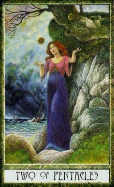 Druid Craft Tarot - Two of Pentacles