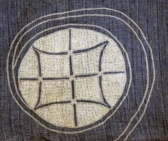 Part of the embroidery that covers the chest, torso, and upper back of a man's robe from Nigeria.  - Judy's Journal: a thousand ant holes