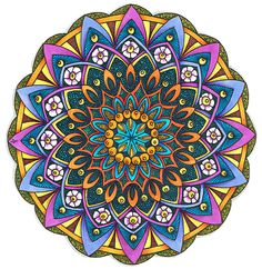 Coloured Version of Mandala 24 June 2014 by Artwyrd on deviantART