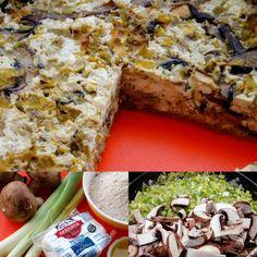 TARTA DE PUERRO Y PORTOBELLOS/ Leek and Portobello tart