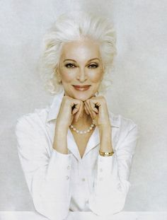 Carmen Dell'Orefice (born June 3, 1931) is 80 years old right now. She is the oldest model in the world modeling for the last 66 years, placing herself in the Guinness Book of World Records. Kudos and snaps to this beautiful woman!