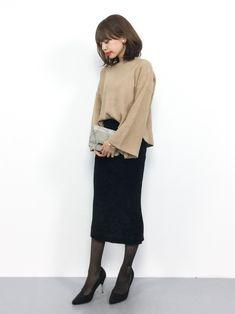 cocaのニット・セーター「フレアスリーブショート丈ニットトップス」を使ったeriko(ZOZOTOWN)のコーディネートです。WEARはモデル・俳優・ショップスタッフなどの着こなしをチェックできるファッションコーディネートサイトです。