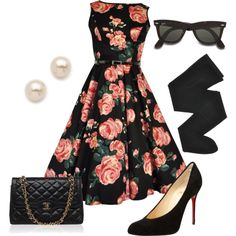 """""""Vintage Retro 50's Fall Outfit"""""""