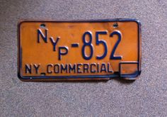 Automobila. Collectors item. Vintage. ED's Dual license plate. NYP & Commercial.