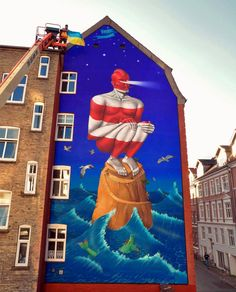 AEC de Interesni Kazki pintó un nuevo mural en Dinamarca