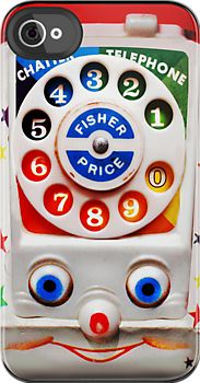Made in USA, Great Case, Sharp image & Fast Shipping. Toy Dial Phone - iphone 4 4s, iPhone 3Gs, iPod Touch 4g case