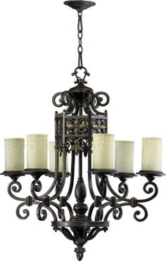 Six Light Chandelier, Traditional, Bronze, Gothic, Dining Room Chandelier