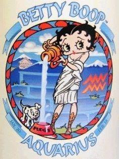 AQUARIUS Betty Boop Comic Strips Tin Sign