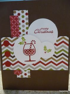 Create in the Sun: Christmas Card Class.  I used a Mojo layout for this card.