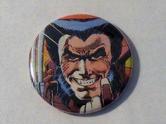 """Comic Book 1.5"""" Button// Wolverine, $1.00"""