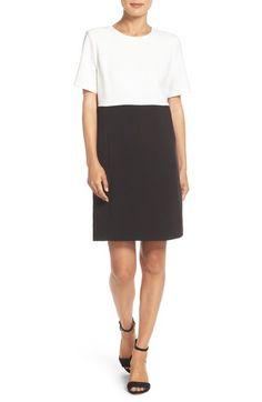 Eliza J Colorblock Crepe Shift Dress (Regular & Petite) available at #Nordstrom