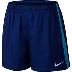 Women's Nike Squad Dri-FIT Woven Soccer Shorts ($27) ❤ liked on Polyvore featuring activewear, activewear shorts, light blue, nike activewear, nike and nike sportswear