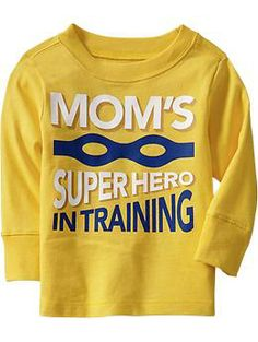 """""""Moms Superhero In Training"""" Tees for Baby"""