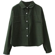 Army Green Plaid Long Sleeve Button Up Shirt ($30) ❤ liked on Polyvore featuring tops, shirts, green, long sleeve tops, button-down shirt, green plaid shirt, long-sleeve peplum top and plaid button down shirt