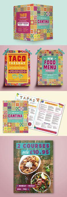 Food menu design and POS for Revolución de Cuba bars Food Menu Design, Tapas Bar, Bar Designs, Taco Tuesday, Design Inspiration, Branding, Posters, Graphic Design, Drinks