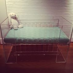Vetro crib with Pebble mattress in Sea Glass! The Vie, Still Have, Baby Cribs, Big Kids, Nook, Mattress, Create Your Own, Kids Room, Nursery