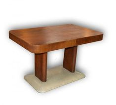 antique good: Dining table - J. Halabala (V Table Desk, Dining Table, Shop Price, Antique Furniture, Art Deco, Carpet, Sculpture, Chair, Antiques