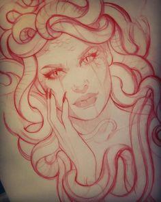 Medusa sketch - - diy tattoo images - Tattoo World Form Tattoo, Shape Tattoo, Diy Tattoo, Medusa Tattoo Design, Tattoo Designs, Tattoo Sketches, Tattoo Drawings, Body Art Tattoos, Sleeve Tattoos