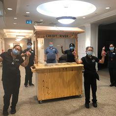 """Made """"by his heart' our talented ESM Mircea unveiled our new Tiki Bar here at Credit River Retirement Residence! His housekeeping team gave him a big thumbs up! 😄👍 #vervecares #community #tikibar #goodtimes #celebration Senior Living Communities, Wellness Activities, Housekeeping, Good Times, Retirement, Health Care, Celebration, Community, River"""