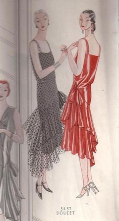 Evening, Cocktail, or Dance dress ~ 1920s