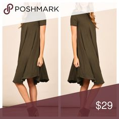 Olive Casual Fall Dress Amazing glory dress! Great with booties and a scarf. No trades and no holds. Happy Shopping 😃 Dresses Midi