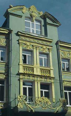 Гранд-отель в Самаре. Улица Куйбышева, 11. Архитектор М.Ф.Квятковский-                  hotel city Samarа 1910 architects M Kvyatkovski