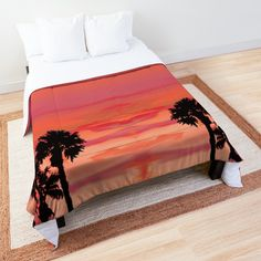 """October Sunset in Los Angeles"" Comforter by ninabmay 
