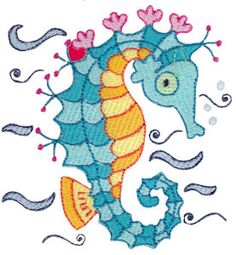Embroidery | Free Machine Embroidery Designs | Bunnycup Embroidery | Seahorses